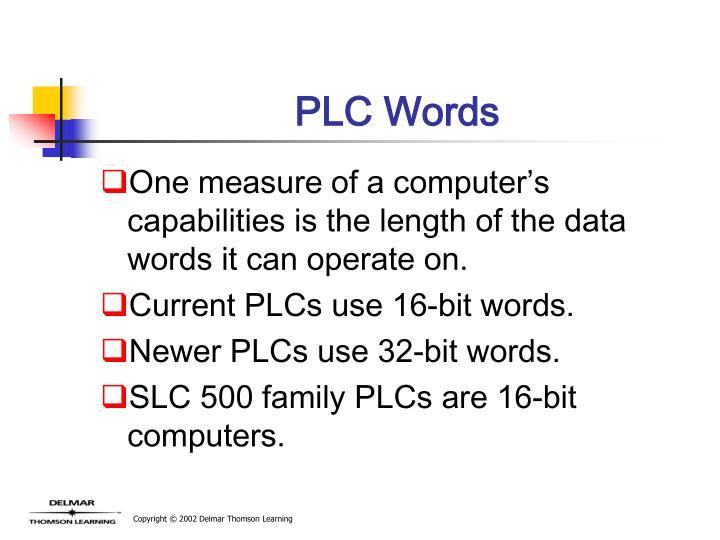 PLC Words