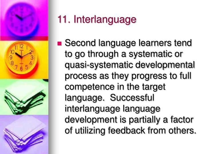 11. Interlanguage