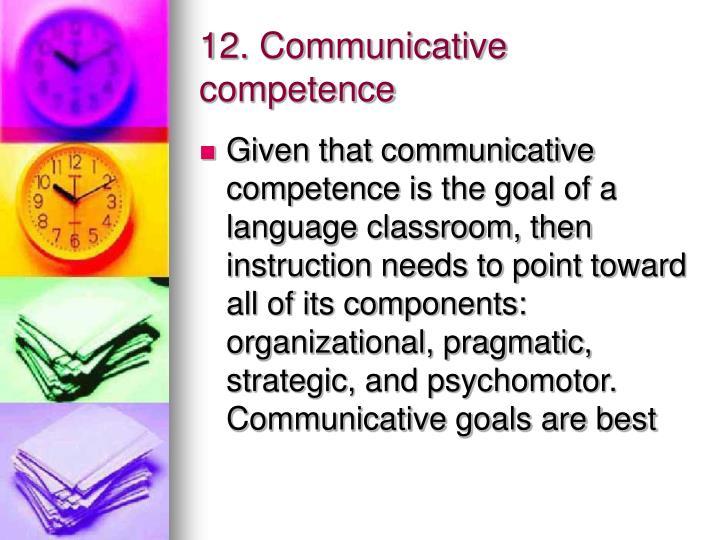 12. Communicative competence