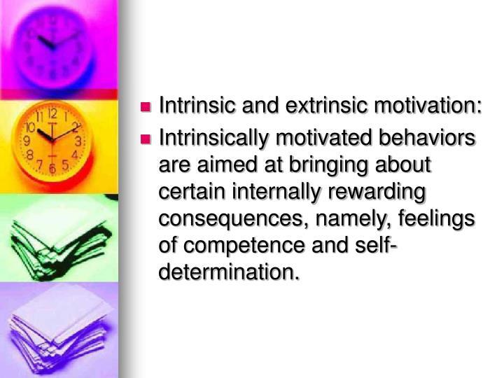 Intrinsic and extrinsic motivation: