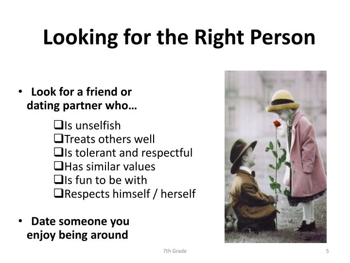Looking for the Right Person