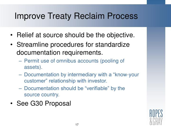 Improve Treaty Reclaim Process