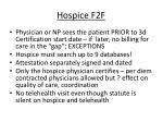 hospice f2f
