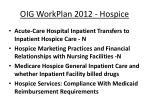 oig workplan 2012 hospice