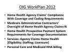 oig workplan 2012