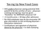 tee ing up new fraud cases