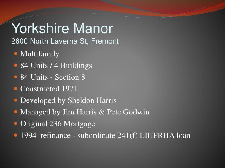 Yorkshire Manor