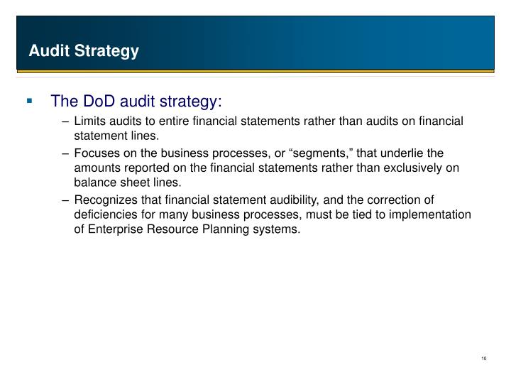 Audit Strategy