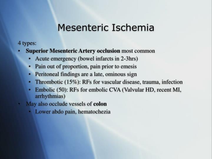 Mesenteric Ischemia