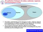air pollution linkages of urban national regional and hemispheric scale