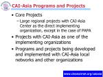 cai asia programs and projects