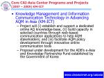 core cai asia center programs and projects 2007 2009 km ict