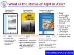 what is the status of aqm in asia