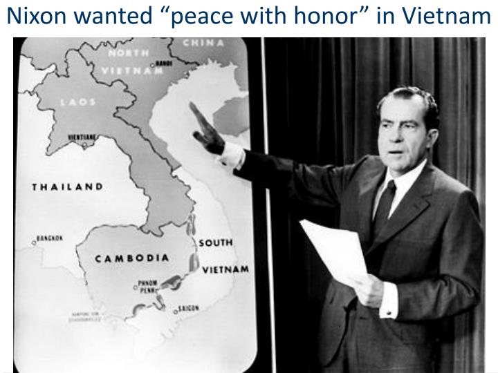"""Nixon wanted """"peace with honor"""" in Vietnam"""