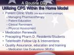 a routine day utilizing cps within the home model
