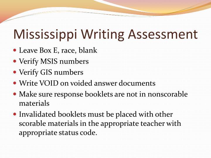 Mississippi Writing Assessment