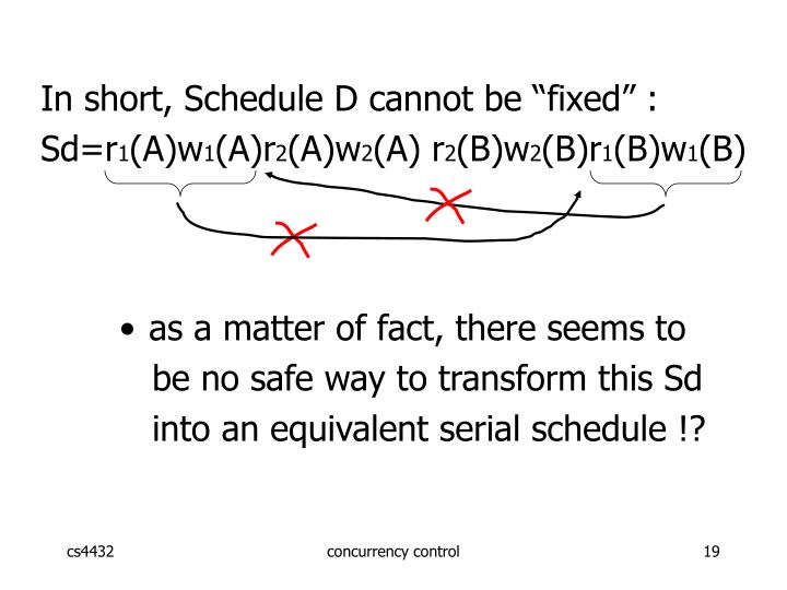"In short, Schedule D cannot be ""fixed"" :"