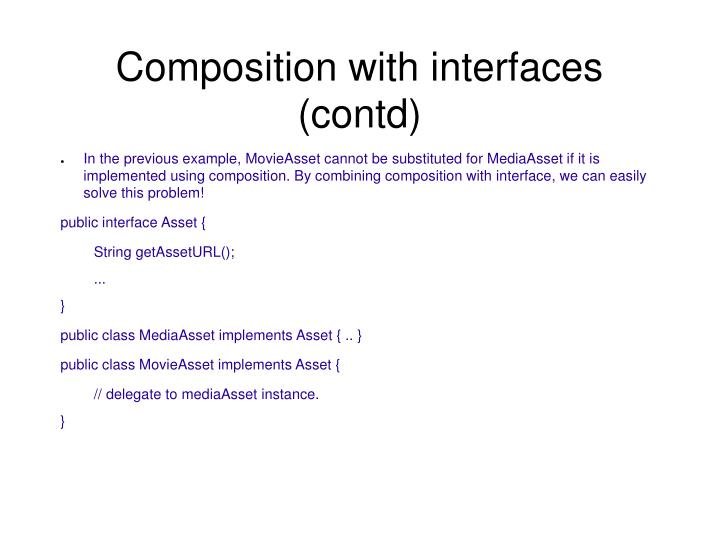 Composition with interfaces (contd)