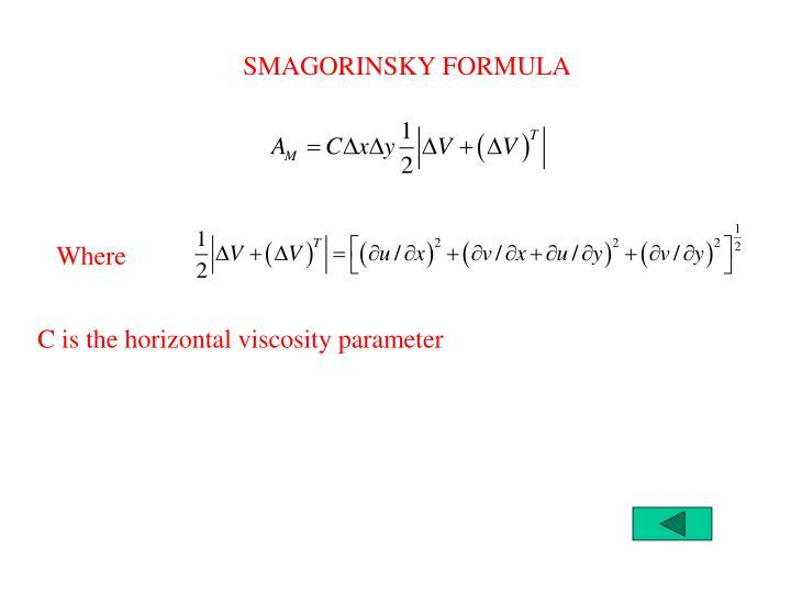 SMAGORINSKY FORMULA