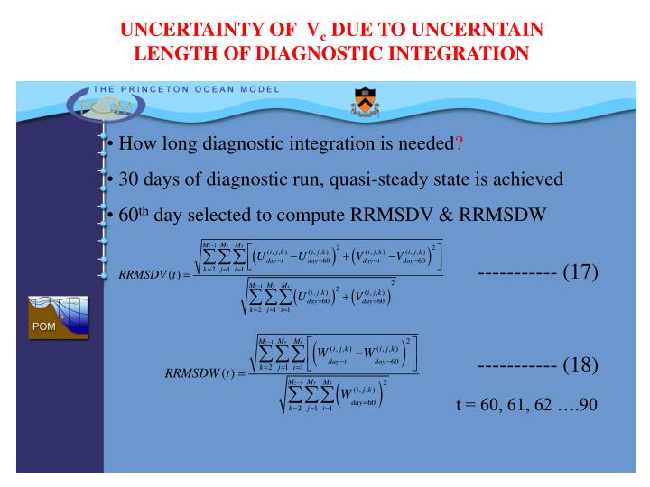 UNCERTAINTY OF  V