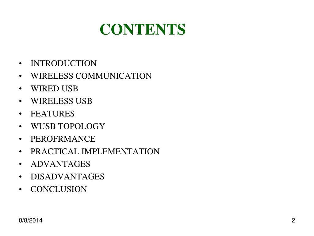 PPT - WIRELESS U S B  PowerPoint Presentation - ID:3010228