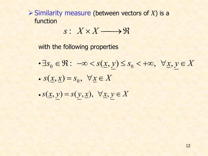 Similarity measure