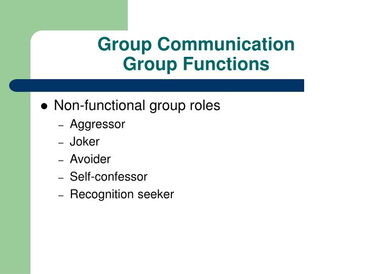 group communication roles