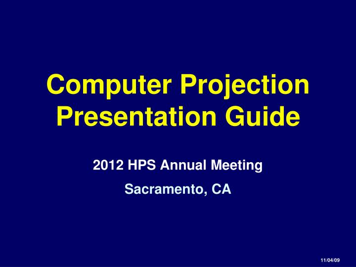 computer projection presentation guide n.