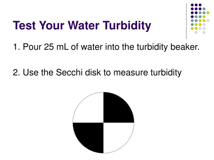 Test Your Water Turbidity