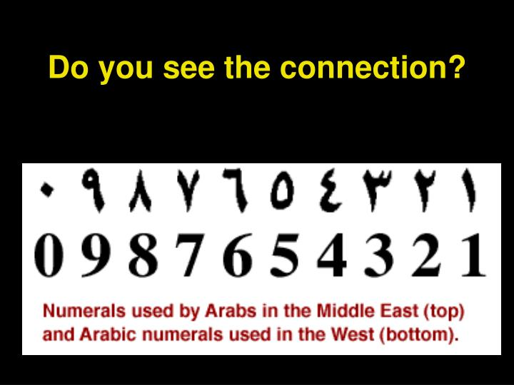 Do you see the connection?