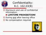confidentiality r c 102 03 b