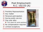 post employment r c 102 03 a