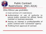 public contract restrictions 2921 42 a