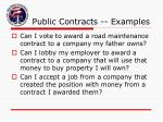 public contracts examples