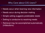 why care about cis users