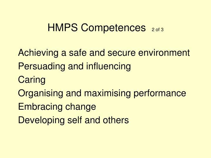 HMPS Competences