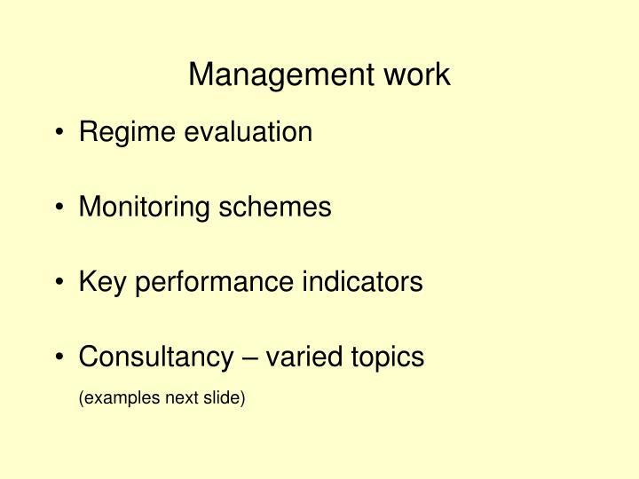 Management work