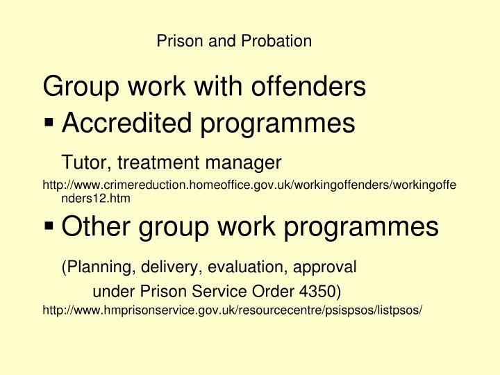 Prison and Probation