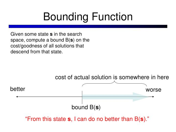 Bounding Function