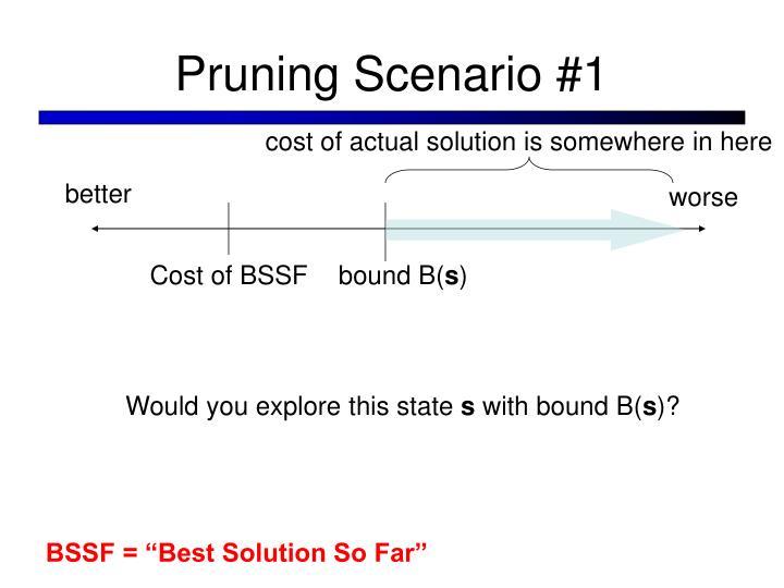 Pruning Scenario #1