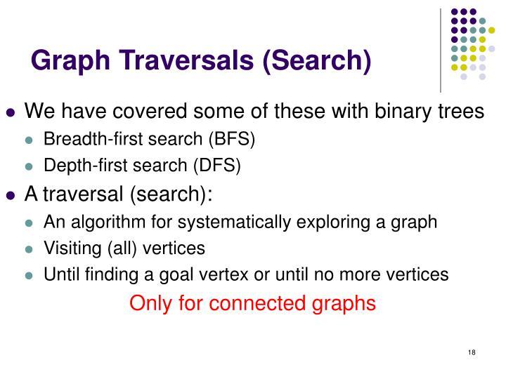 Graph Traversals (Search)
