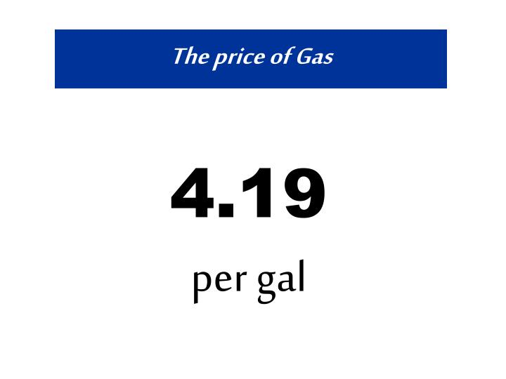 the price of gas n.