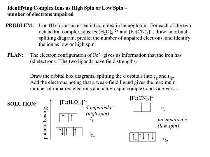 Ppt Ch 22 Complex Ions Powerpoint Presentation Id3010809