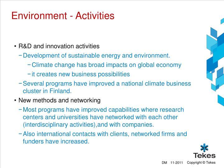 Environment - Activities