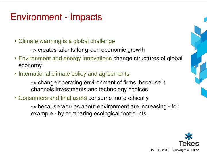 Environment - Impacts