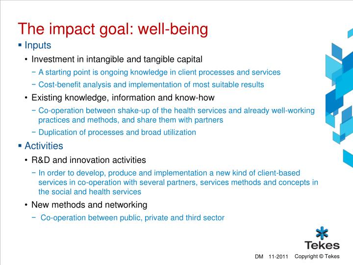 The impact goal: well-being