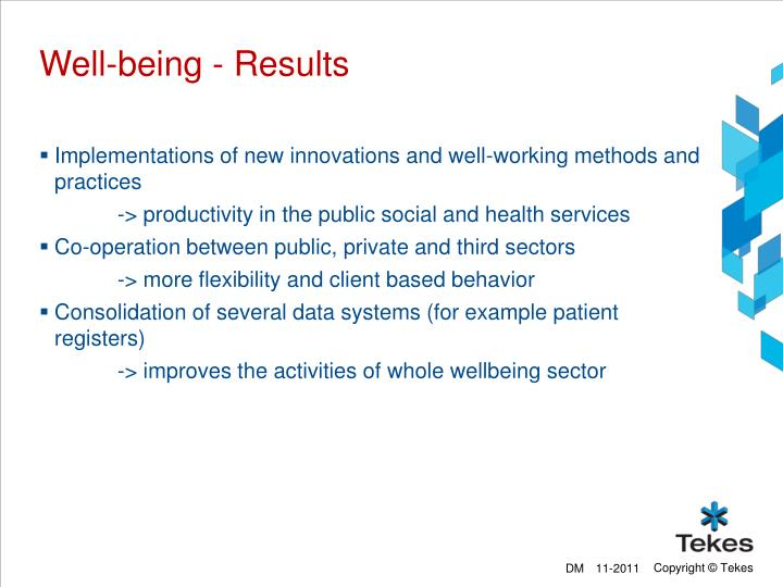 Well-being - Results
