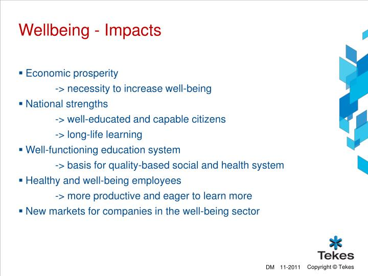 Wellbeing - Impacts