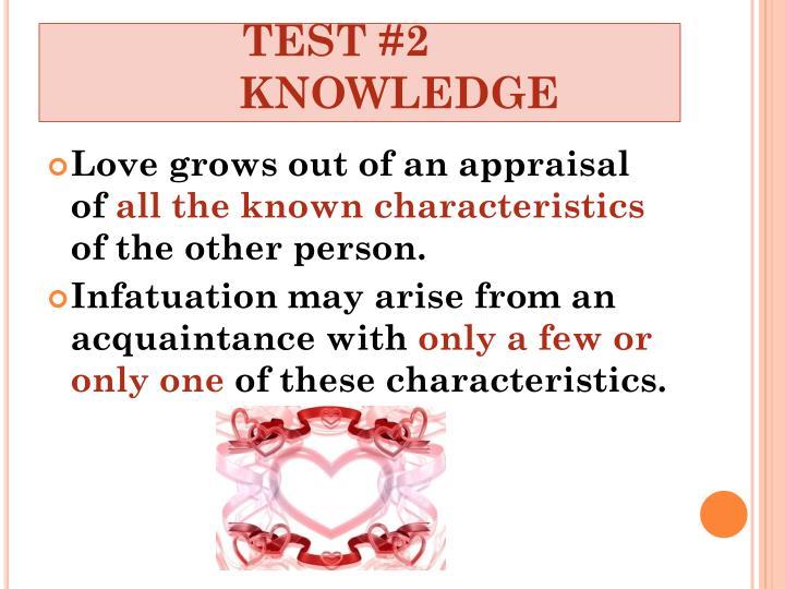 Love vs infatuation test