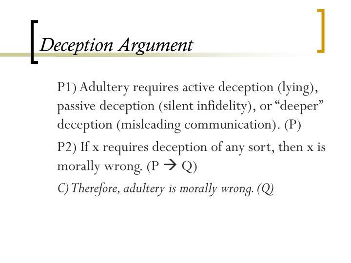 Deception Argument